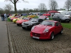 Marcos Cars - Mini Marcos. Lined up at Stoneleigh 2006